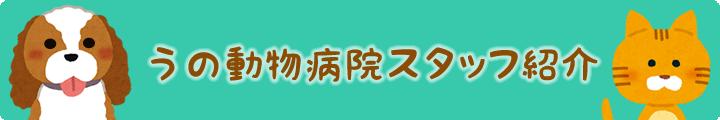 滋賀県の「うの動物病院」スタッフ紹介