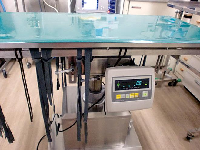 ヒーター付きデジタル手術台
