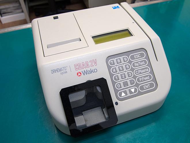うの動物病院 血液凝固分析装置