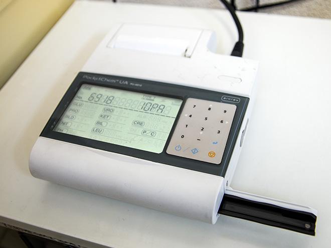 うの動物病院 小型尿分析装置