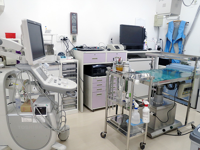 うの動物病院 手術室